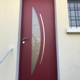 Porte D'entrée Aluminium Modèle Cytiss 7 Par LARO AMENAGEMENT D'INTERIEUR